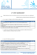 3rd Step Worksheet