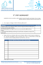 5th Step Worksheet