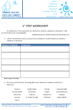 1st Step Worksheet